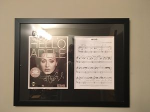 "Signed album cover from ""Hello"" this is actually signed and authenticated by Adele. for Sale in Cleveland, OH"