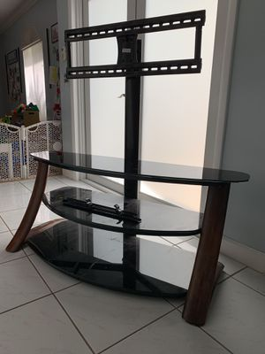 Tv stand with glass shelves for Sale in Miami, FL