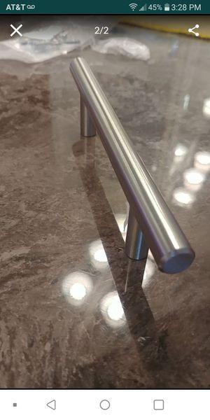 """Satin nickel 6"""" kitchen cabinet door handles lot of 50 for Sale in Las Vegas, NV"""