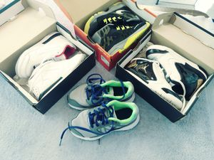 Four pairs of Nike's and Jordan shoes. for Sale in Oceanside, CA