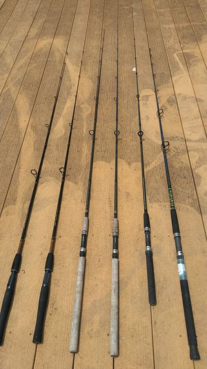 6 Rods- ugly stick, Shimano, quantum for Sale in Tampa, FL