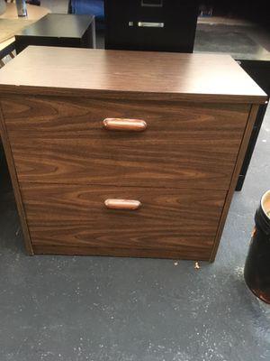 Wood file cabinet for Sale in Fort Pierce, FL