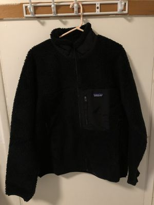 Patagonia Classic Retro-X Fleece Jacket Size Large Black for Sale in Monterey Park, CA