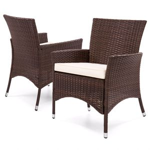Set of 4 Modern Contemporary Wicker Patio Dining Chairs w/ Water-Resistant Cushions (Purchase via PayPal Invoice with Free Shipping) for Sale in Philadelphia, PA