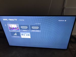 55in TV with wall mount for Sale in Washington, DC