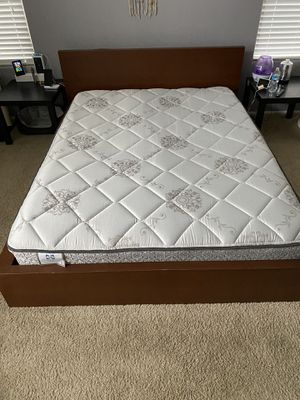 Queen Mattress and Free bed frame for Sale in San Tan Valley, AZ