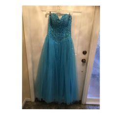 Prom Dress, Size 10/12, Blue, Strapless, Sweetheart , Bodice, Tulle Skirt for Sale in Boca Raton,  FL