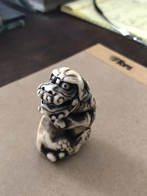 Miniature carved Foo Dog Artist signed for Sale in San Diego, CA
