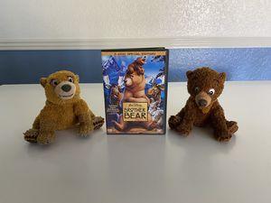 Disney Brother Bear DVD with 2 stuffed bears set for Sale in Glendale, AZ