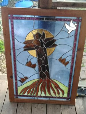 Antique hand leaded stained glass. for Sale in Baltimore, MD