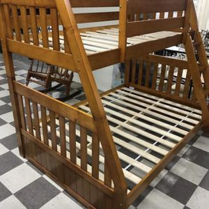 Brand new twin overfull bunk bed no mattress for Sale in Pompano Beach, FL