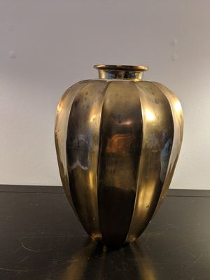 """12"""" tall Brass vase, 7.5"""" diameter for Sale in Lincolnia, VA"""