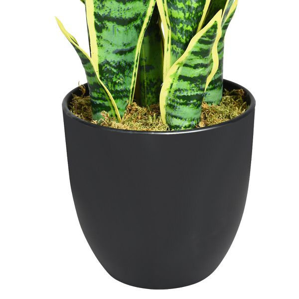 """35.5"""" Indoor-Outdoor Decoration Fake Artificial Snake Plant"""