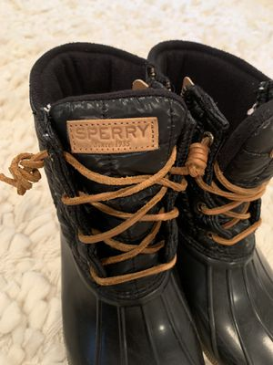Sperry black boots Women's 8.5 for Sale in Marblehead, MA