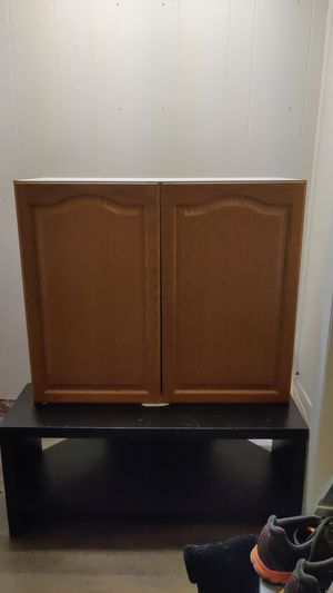 Wooden Cupboard, No Shelves for Sale in Clare, MI