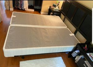 King size boxsprings with Head board for Sale in Germantown, MD