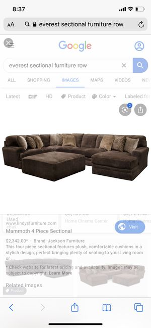 Large sectional including ottoman. 3000 originally. Gently used only 2 years old for Sale in Arvada, CO