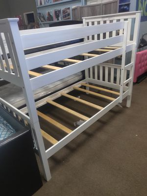 White Twin size bunk bed frame for Sale in Glendale, AZ