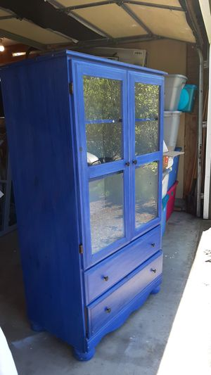 Cabinet with glass doors for Sale in Vancouver, WA