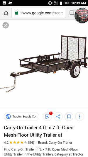 4x8 utility trailer. for Sale in Avon Park, FL