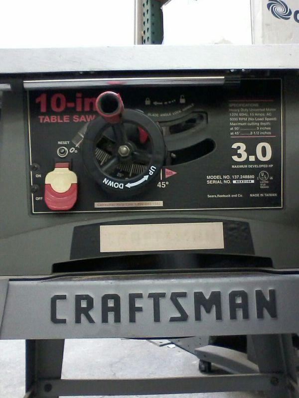 Terrific Craftsman 137 248880 10 In Table Saw For Sale In Santa Fe Springs Ca Offerup Download Free Architecture Designs Rallybritishbridgeorg