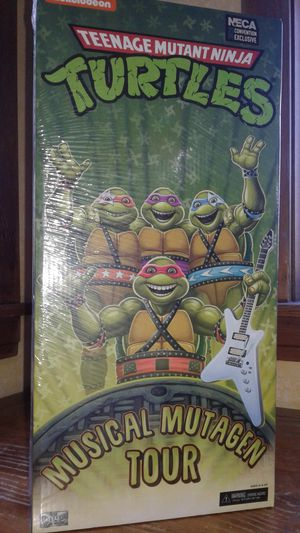 Neca teenage mutant ninja turtles musical mutagen tour collectible action figures. for Sale in Berwyn, IL