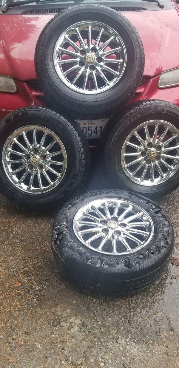"""Chrysler chrome 16"""" rims"""