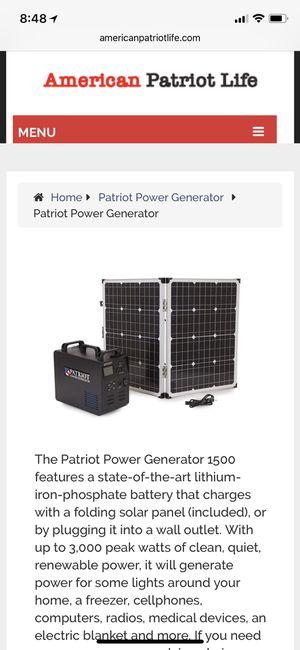 Patriot power generator!! Brand new! for Sale in San Francisco, CA