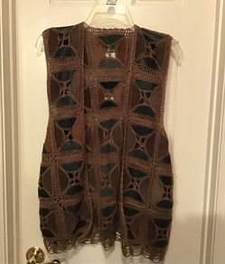 Vest Leather and Crochet for Sale in Germantown,  MD