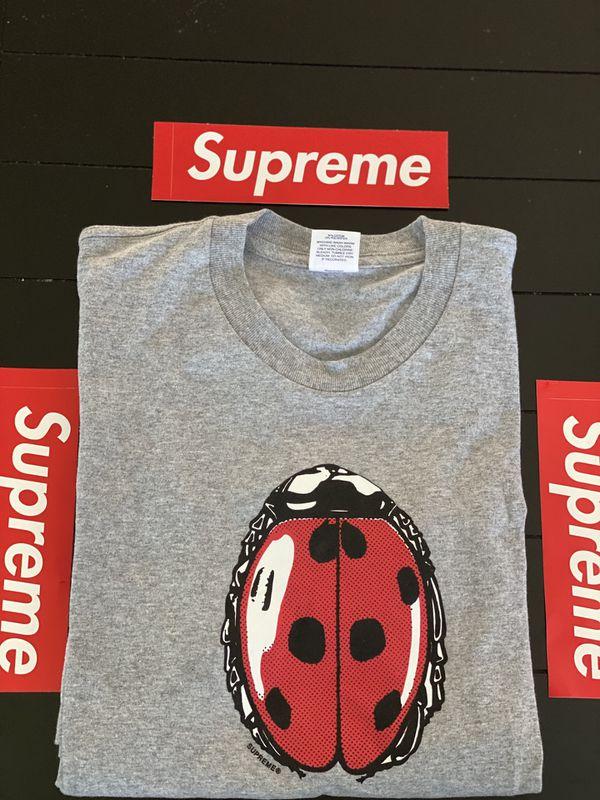 Brand new Heather Grey Supreme Ladybug Tee Size Medium