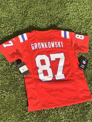 Rob Gronkowski Red Nike On Field Limited New England Patriots Jersey Sz. Small for Sale in Los Angeles, CA