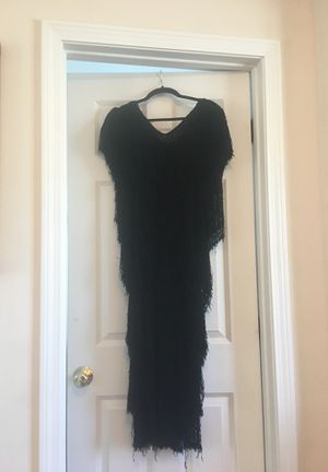 """French Rags"" fringe 80's flapper dress - Size 2, Black for Sale in Boston, MA"