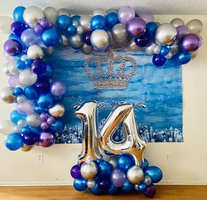 Balloon arch party birthday balloon queen for Sale in Tamarac, FL