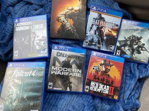 Modern Warfare, Red Dead Redemption 2, PLUS MORE (PS4) for Sale in Oceanside, CA