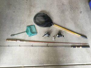 2 Fishing Rods, 3 Reels and 2 Nets for sale! for Sale in Scottsdale, AZ