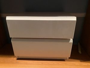 Lane White laminate chest and nightstand for Sale in St. Louis, MO