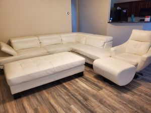 White leather Sofa set for Sale in Buford, GA
