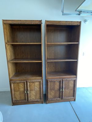 Pair of bookshelves/cabinets for Sale in Las Vegas, NV