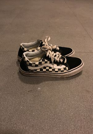 Vans checkers size 7 1/2 for Sale in South Brunswick Township, NJ