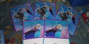 Lot of 5 frozen elsa anna olaf blue purple gift bags for Sale in Holland, MI