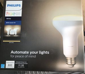 Philips hue br30 starter pack for Sale in Canton, GA