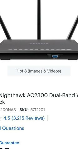 Netgear Nighthawk AC2300 WiFi Router for Sale in Riverside,  CA