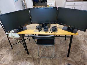 3x hp2211x monitors for Sale in Greensboro, NC