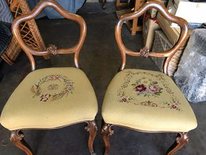 Antique needlepoint chairs for Sale in Fountain Valley, CA
