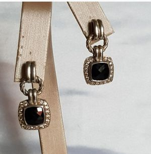 David Yurman Black Onyx Diamond Renaissance Drop Earrings for Sale in Aldie, VA