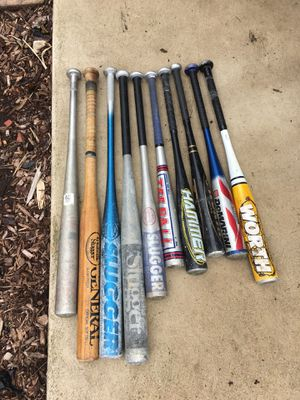 10 bats softball/baseball for Sale in Lockport, IL
