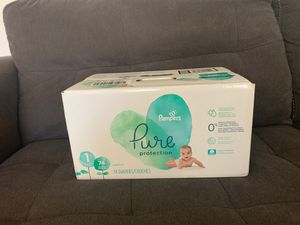 pampers pure, size 1, 74 count for Sale in Bakersfield, CA