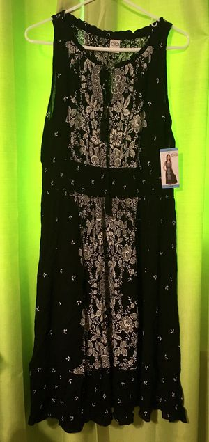 Bila White and Black Floral Boho Empire Dress - Size Large - New with Tags for Sale in Charleroi, PA