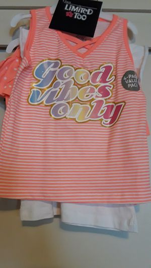 New girl's set size 5t 2 tops and 2 bottoms for Sale in Los Angeles, CA