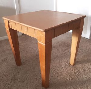 Hardwood End Table for Sale in San Francisco, CA